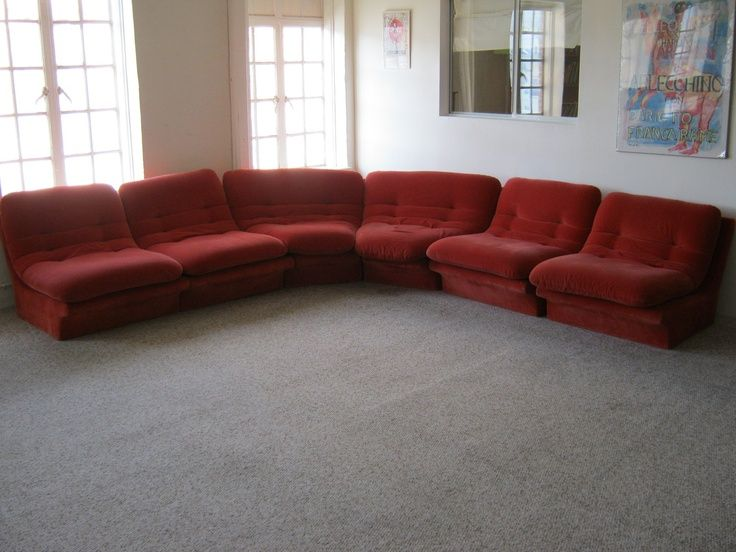 Curved Modular Couch Vintage Google Search Vintage Sofa