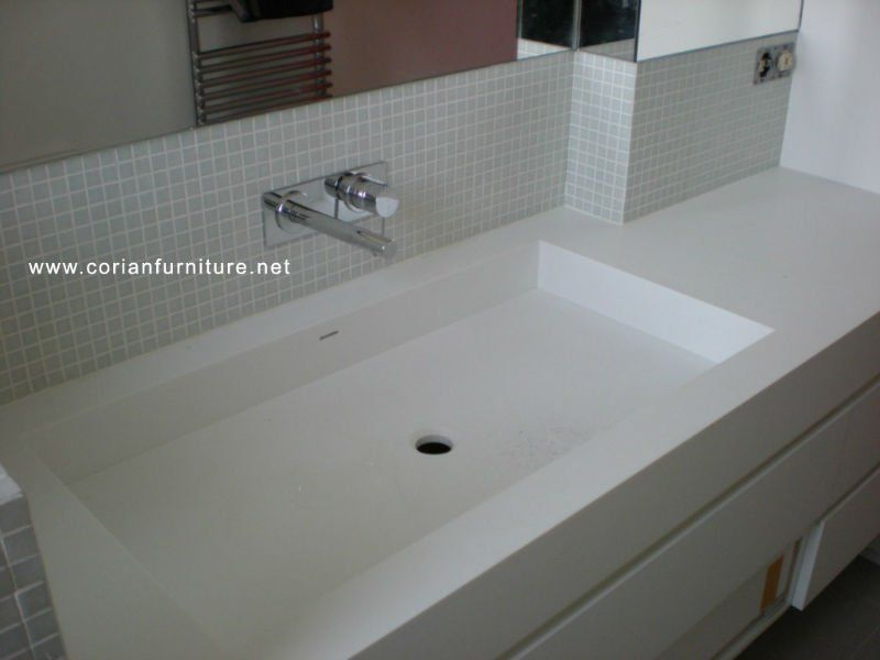 Corian Integrated Bathroom Sinks Corian Acrylic Solid Surface Basin Integrated Sink View Corian Sink