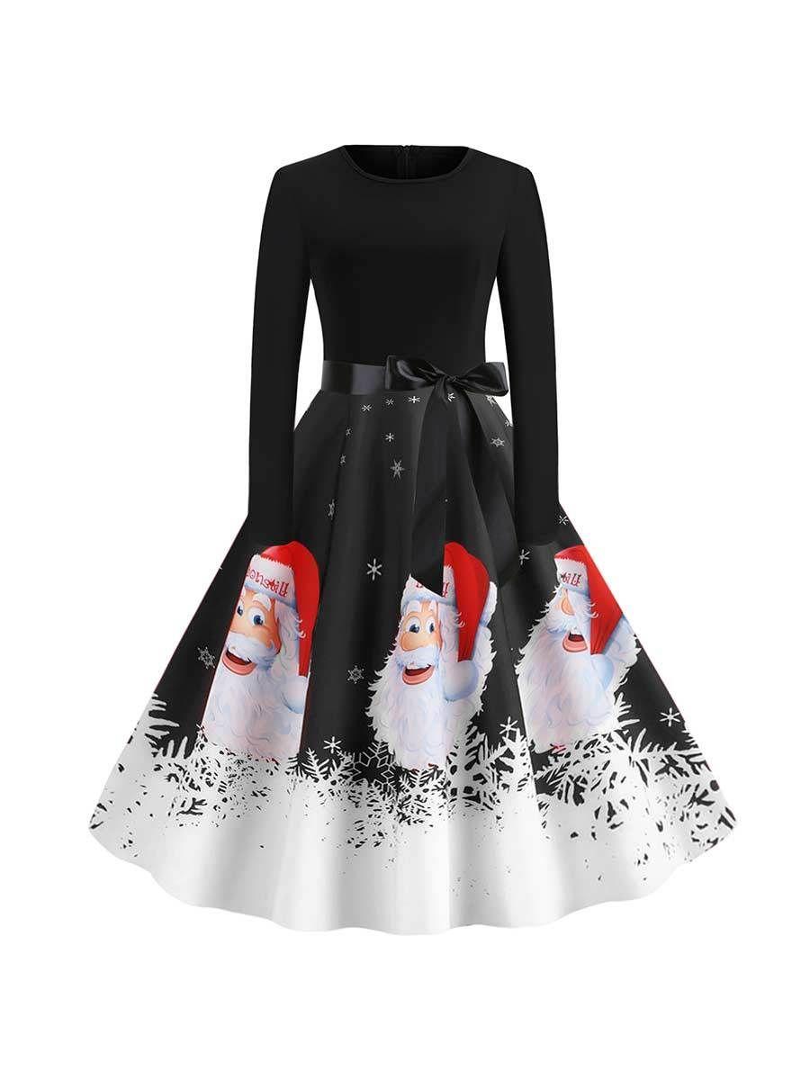 Christmas Dress Santa Avatar Print Long Sleeve Swing Dress Sleeved Swing Dress Long Sleeve Swing Dress Swing Dress [ 1200 x 900 Pixel ]