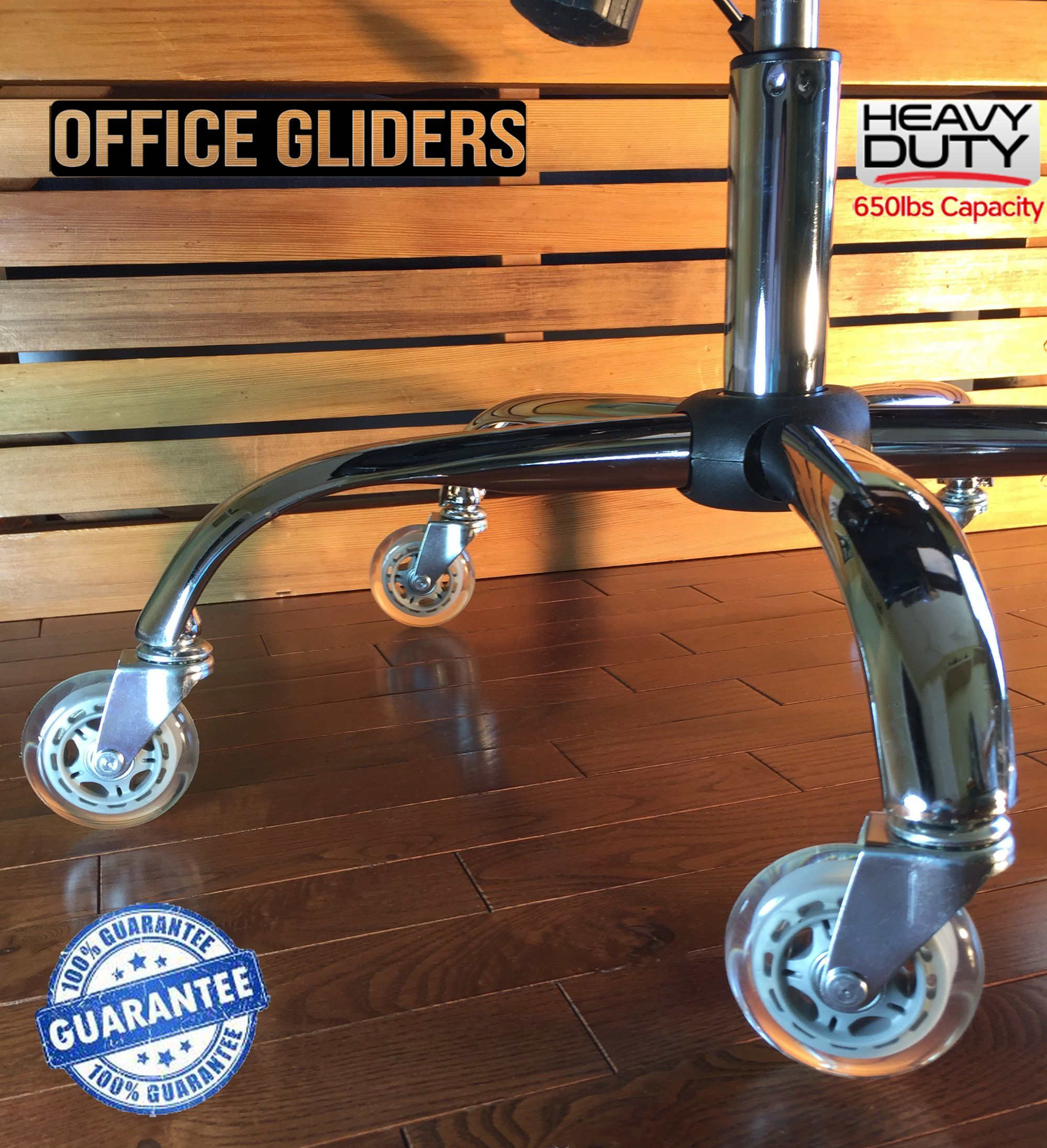 Office Chair Caster Wheels Replacement Set Of 5 Hardwood Floor