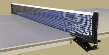 For table tennis, this spring clamp and net are