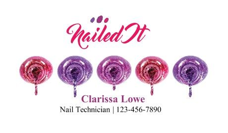 nail salon business cards nails beauty wellness business card