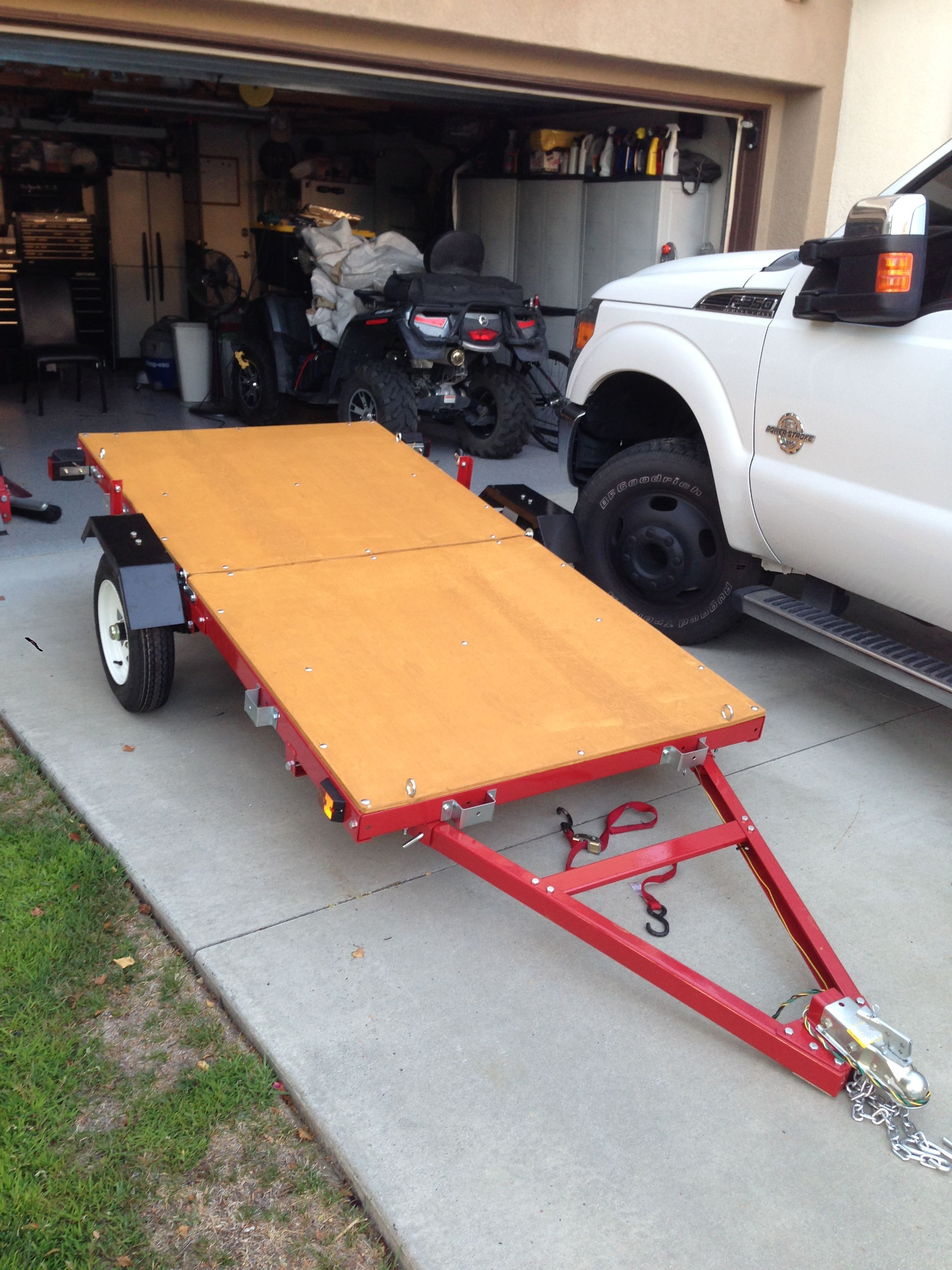 nice folding trailer solves storage and transportation issues found rh pinterest com
