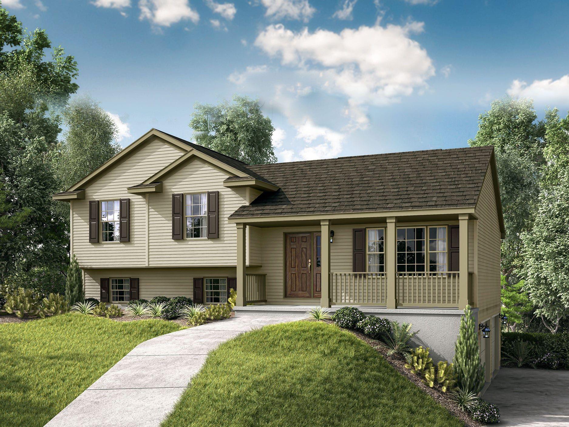 Lexington II Floor Plan SplitLevel Custom Home Garage