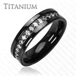Starfire Solid Black With Circled Round Cubic Zirconias Titanium Wedding Band Mens Diamond Wedding Bands Black Diamond Ring Engagement Diamond Wedding Bands