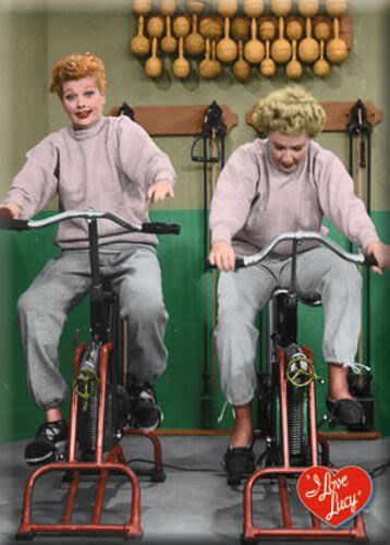 I Love Lucy Exercise Bikes Refrigerator Magnet:Amazon:Home & Kitchen