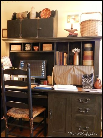 country office decor. Great Prim Home Office Decorating And Organizing Country Decor