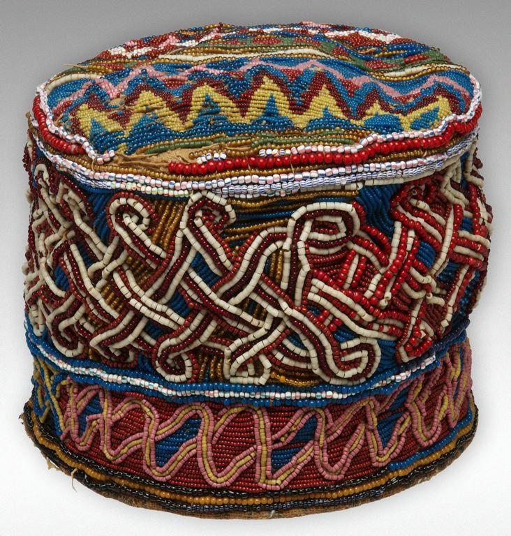 Africa | Royal Coronet.  Yoruba culture ~ Odo-Ona Ilorin, Kwara State, Nigeria.