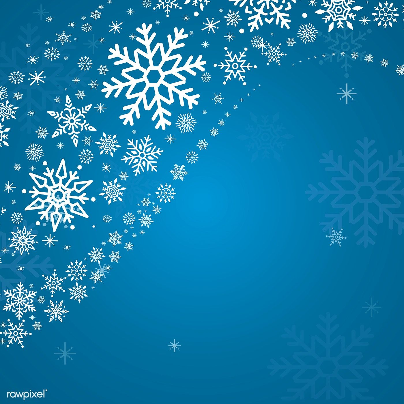 Blue Christmas Winter Holiday Background With Snowflake Vector Free Image By Rawpixel Com