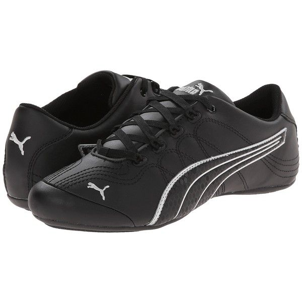PUMA Soleil v2 Comfort Fun (Black Puma Silver) Women s Shoes ( 48) ❤ liked  on Polyvore featuring shoes c0fdf32e0