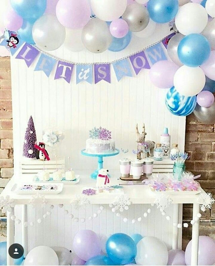 Let it snow banner winter onederland penguin baby shower birthday party also pin by lau og on renata pinterest frozen and birthdays rh