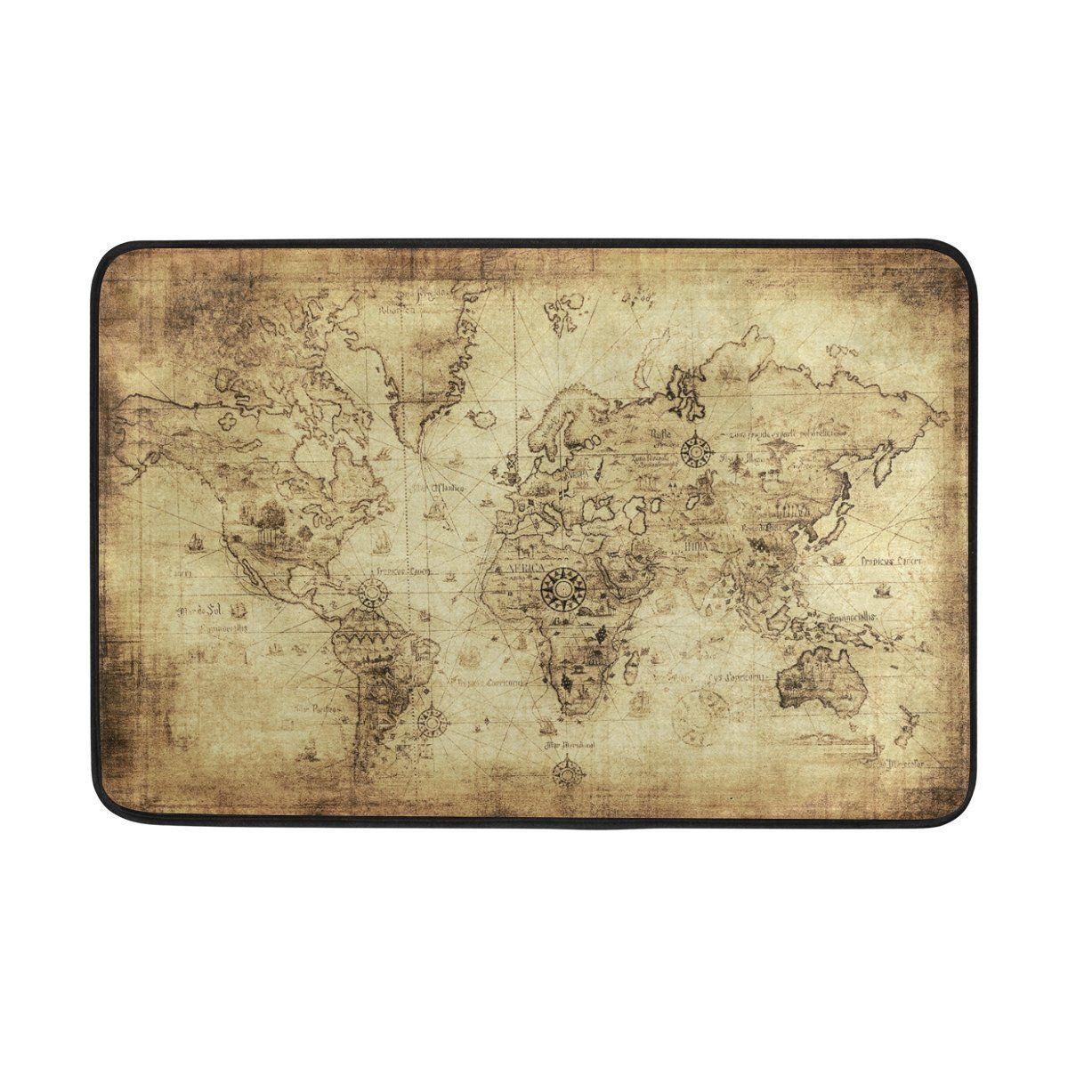 Amazon demonco ancient map of the world door mat rug vintage amazon demonco ancient map of the world door mat rug vintage retro gumiabroncs Gallery