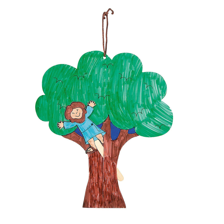 Color Your Own Zacchaeus Door Hanger Craft Kit - OrientalTrading.com ...