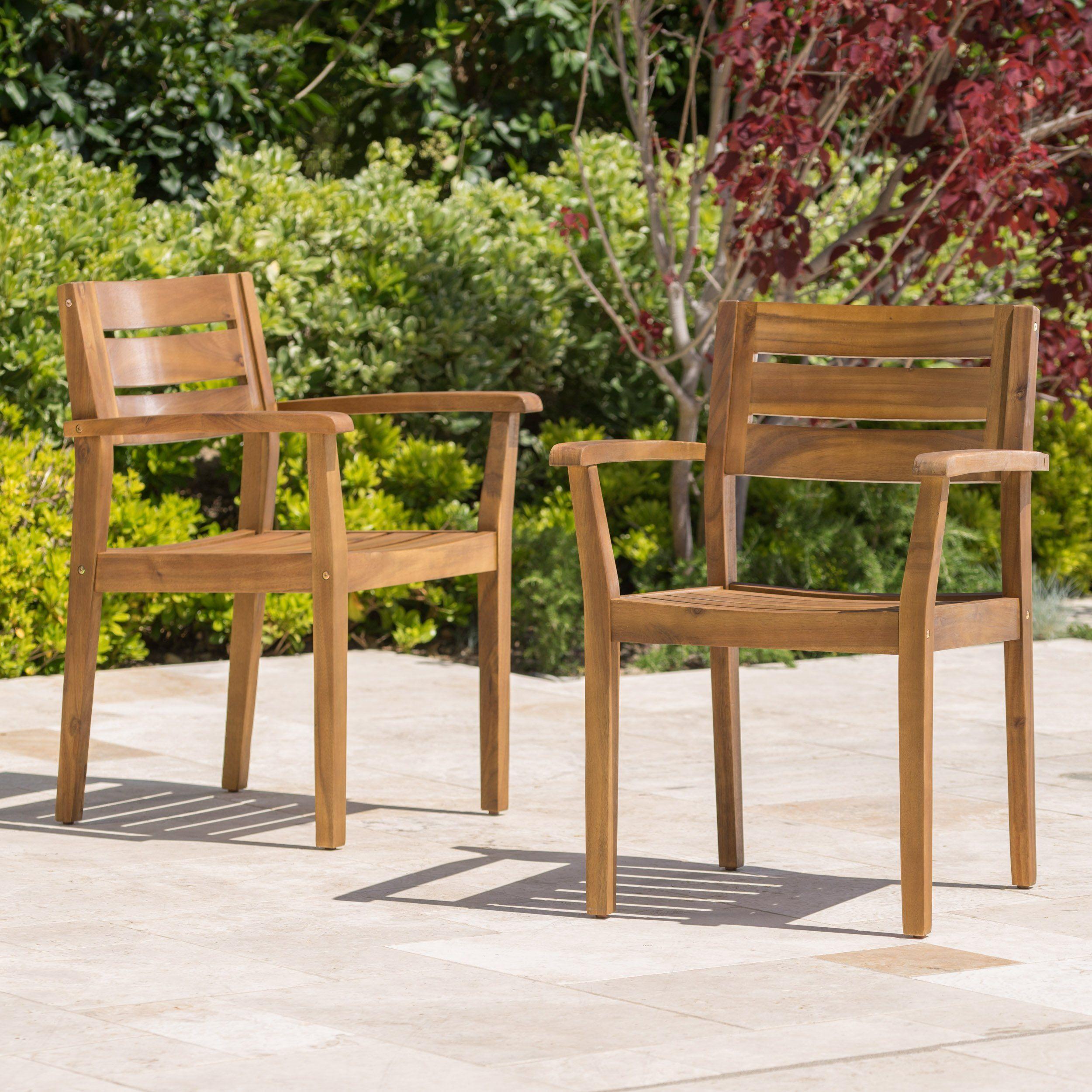 Stanyan Patio Furniture ~ 7 Piece Outdoor Acacia Wood Deck Dining Set ***  Want
