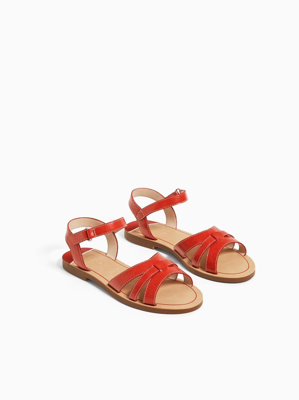 Sandalia Piel Color Ver Todo Niña Zapatos Niños Zara México Sandalias Piel Zapatos Niña Zara Zapatos Para Niñas