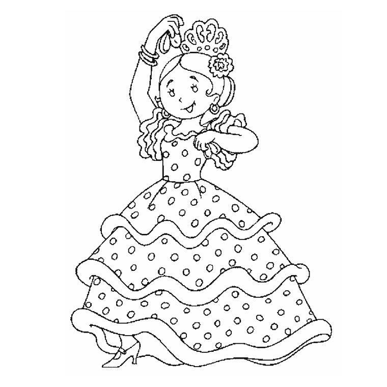Coloriage espagne my blog - Dessin danseuse de flamenco ...