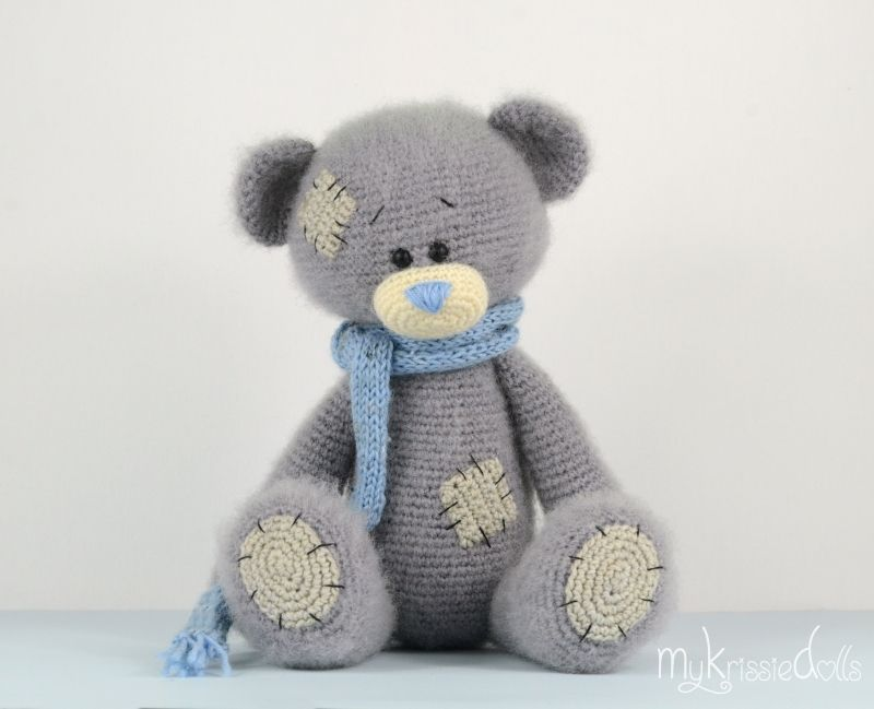Amigurumi Free Patterns Bear : Me to you bear modification on my little pandabeer free pattern