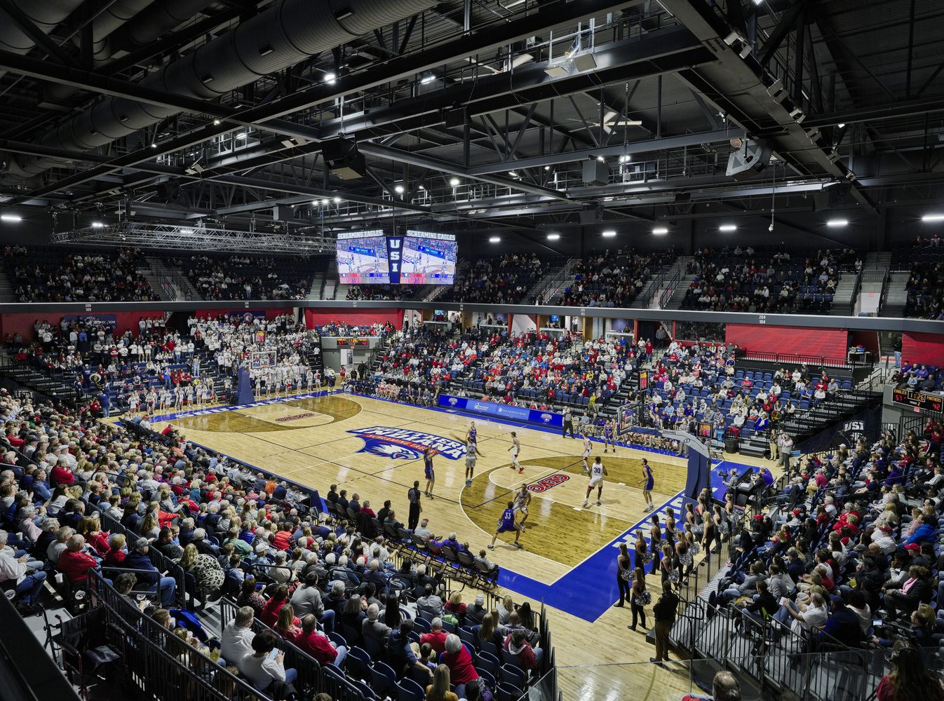 Gallery Of University Of Southern Indiana Screaming Eagles Arena Cannondesign 15 Stadium Design University Arena