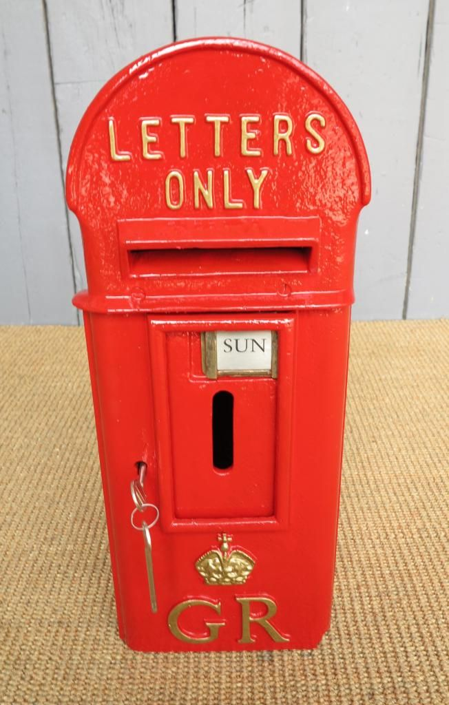 Reclaimed Pole Mounted Post Box Antique Post Box Post