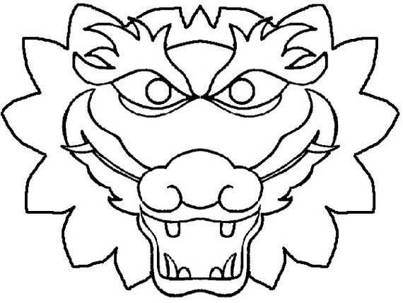 chinese dragon face template - chinese dragon boat festival coloring pages dragon boat