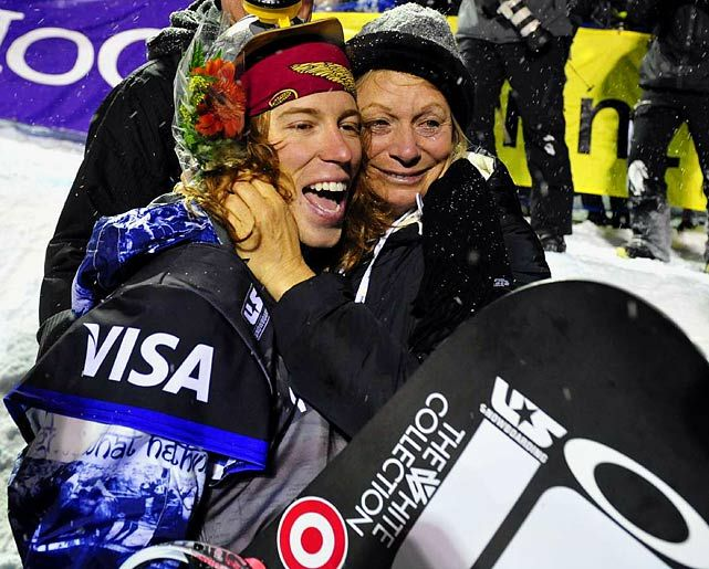 A #fbf pic of Shaun White and his mom Cathy