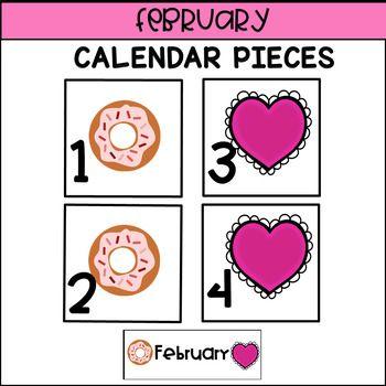 Calendar Pieces For February Kindergarten Pinterest February