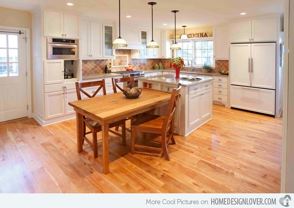 15 Beautiful Kitchen Island With Table Attached Home Design Lover Small Kitchen Tables Kitchen Island Table Kitchen Island And Table Combo