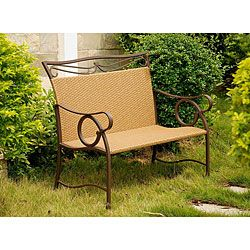 @Overstock - A comfortable and stylish addition to your outdoor decor, this loveseat features a curved frame and matte brown finish. This outdoor furniture is weather-resistant.http://www.overstock.com/Home-Garden/Valencia-Brown-Resin-Wicker-Steel-Loveseat/5203029/product.html?CID=214117 $168.99