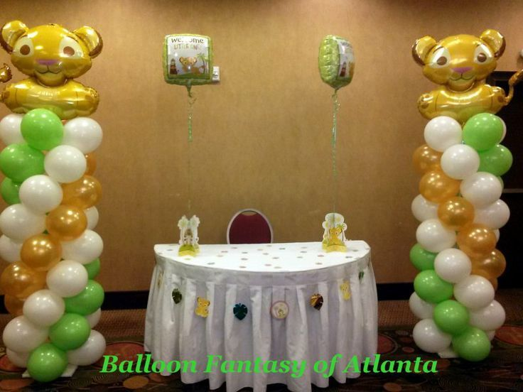 High Quality Lion King Baby Shower Balloon Columns