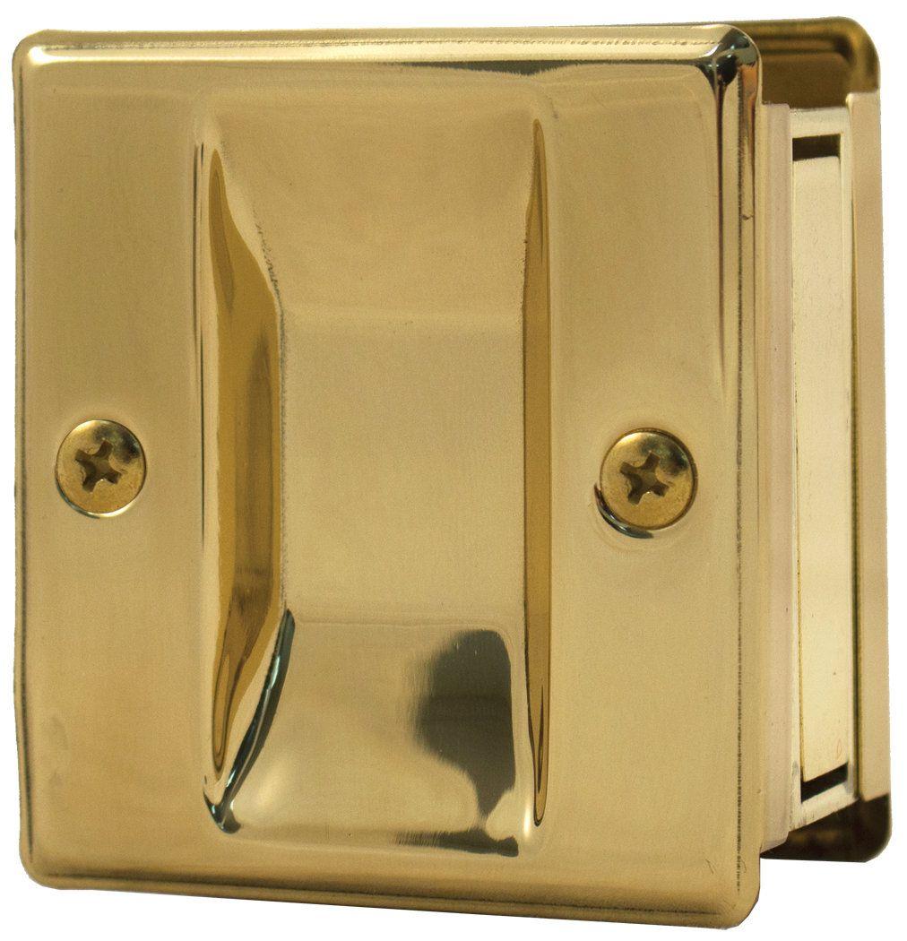 square pocket door lock