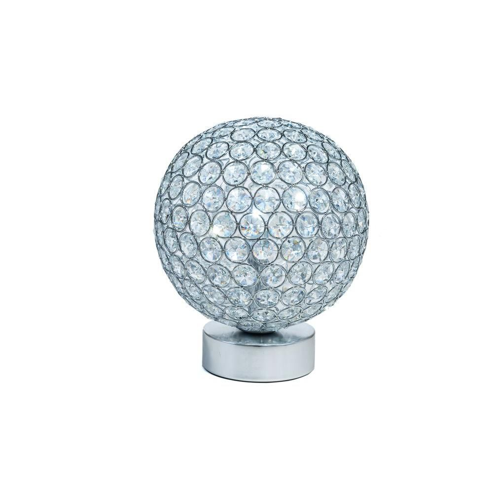 Arclite 9 In Crystal Battery Operated Table Lamp With Crystals Pictured With Cool White Led Bulbs Lamp Battery Operated Table Lamps Led Bulb