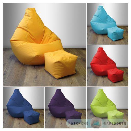 bean bag foot stool gamer beanbag indoor outdoor gaming. Black Bedroom Furniture Sets. Home Design Ideas
