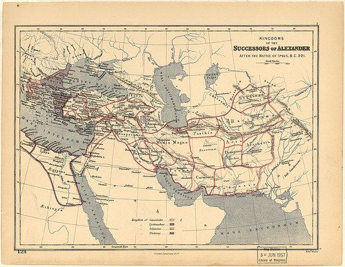 Kingdoms of the Diadochi after the battle of Ipsus