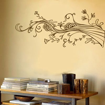 Dali Decal - Swirling wispy tree branch with flowers $55 & Dali Decal - Swirling wispy tree branch with flowers $55 | My Home ...