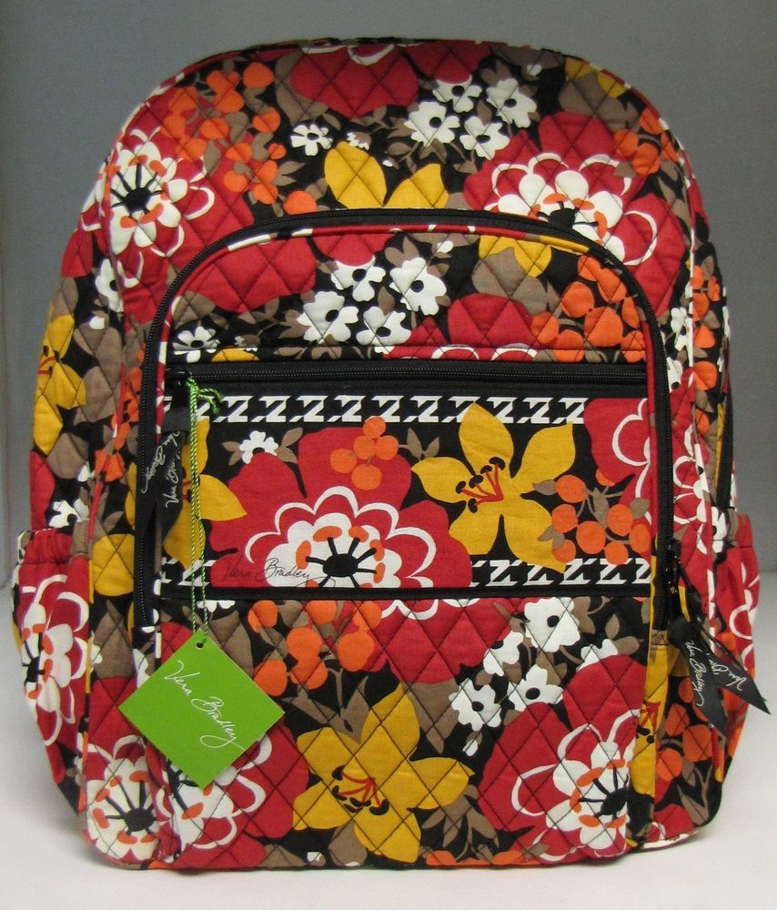 Vera Bradley Campus Backpack Bittersweet School Bag New  VeraBradley   CampusBackpack 4e4bf879d848e