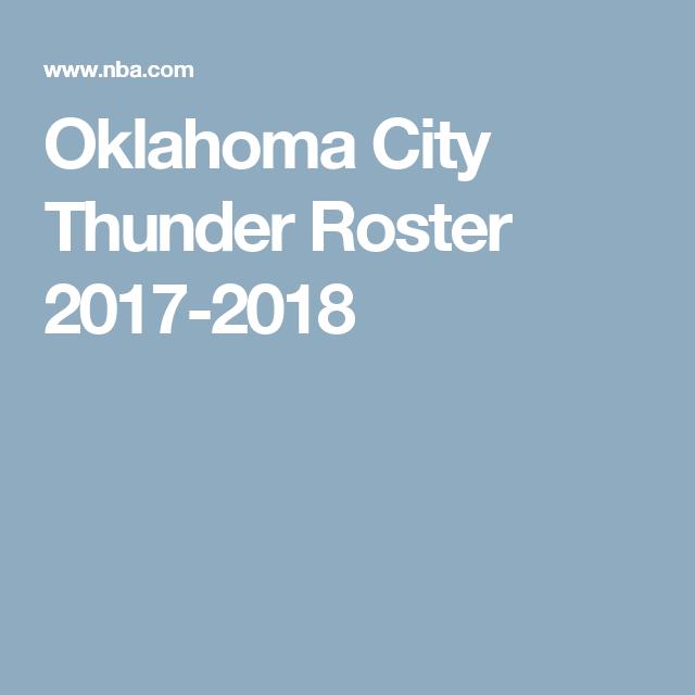 Roster Oklahoma City Thunder Thunder Oklahoma City