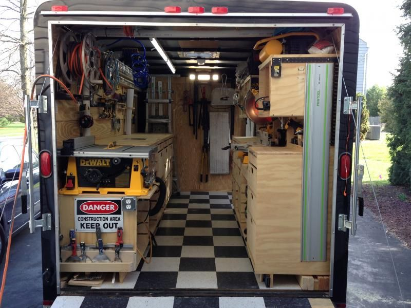 Portable Trailers Work : Contractor work trailer google search