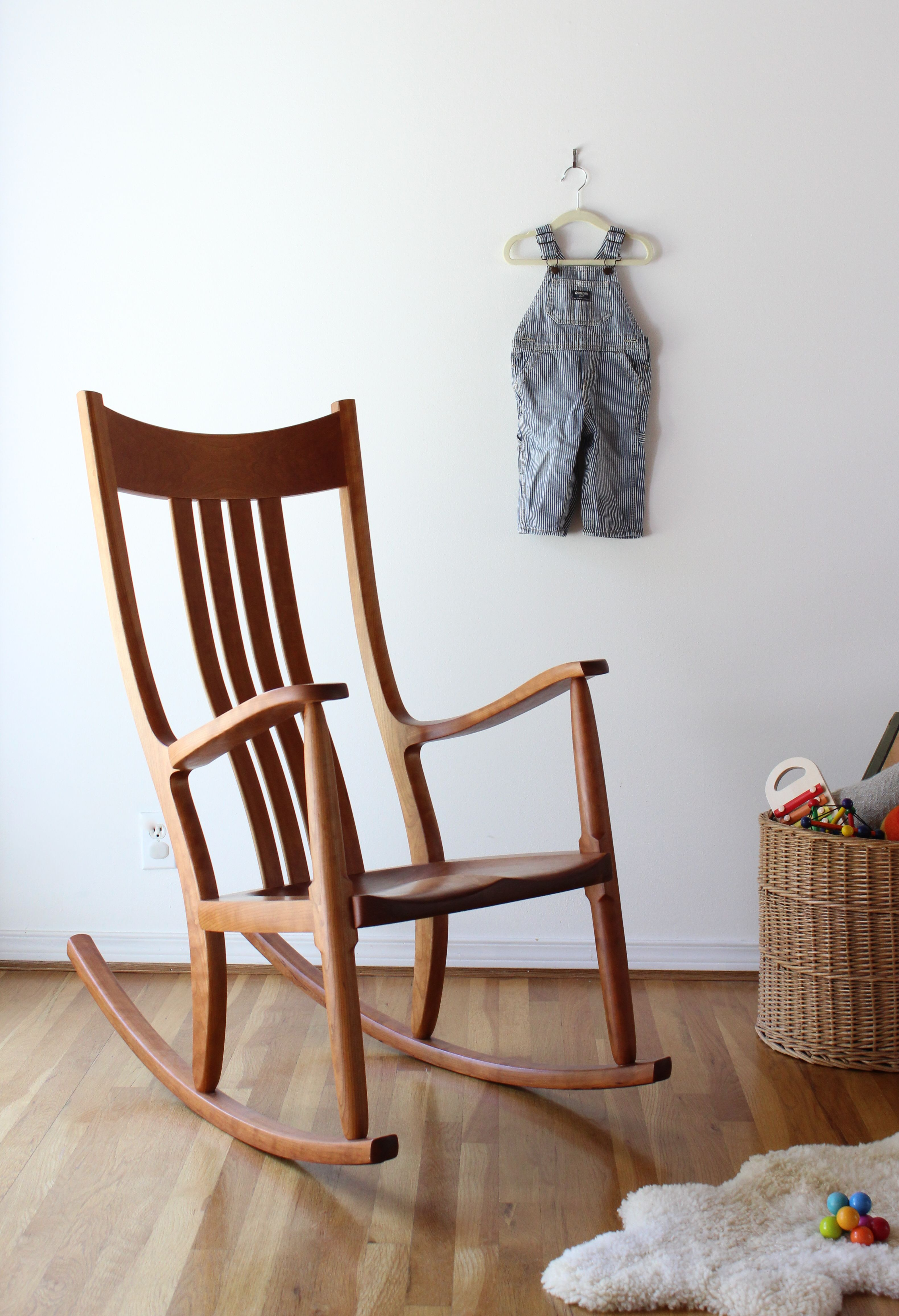Magnificent Handmade Comfortable Wood Rocking Chairs For Nursery And Download Free Architecture Designs Estepponolmadebymaigaardcom