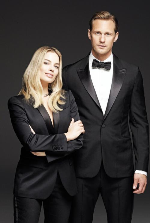 margotdaily: Margot Robbie and Alexander Skarsgard for Film...