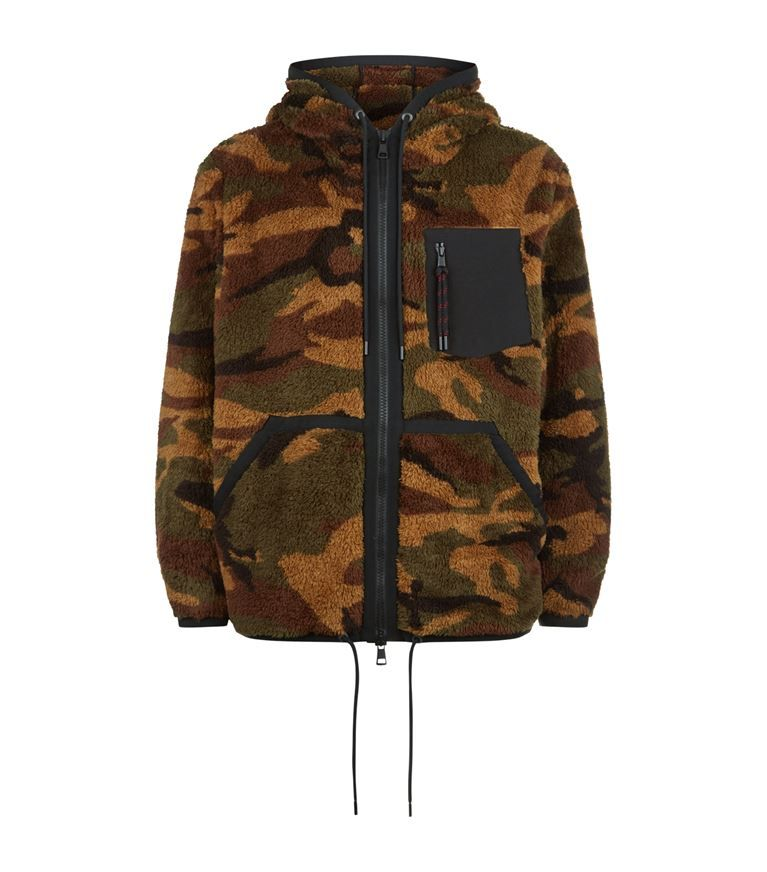 97f60ff354f6 MONCLER Camouflage Fleece Zipped Hoodie.  moncler  cloth