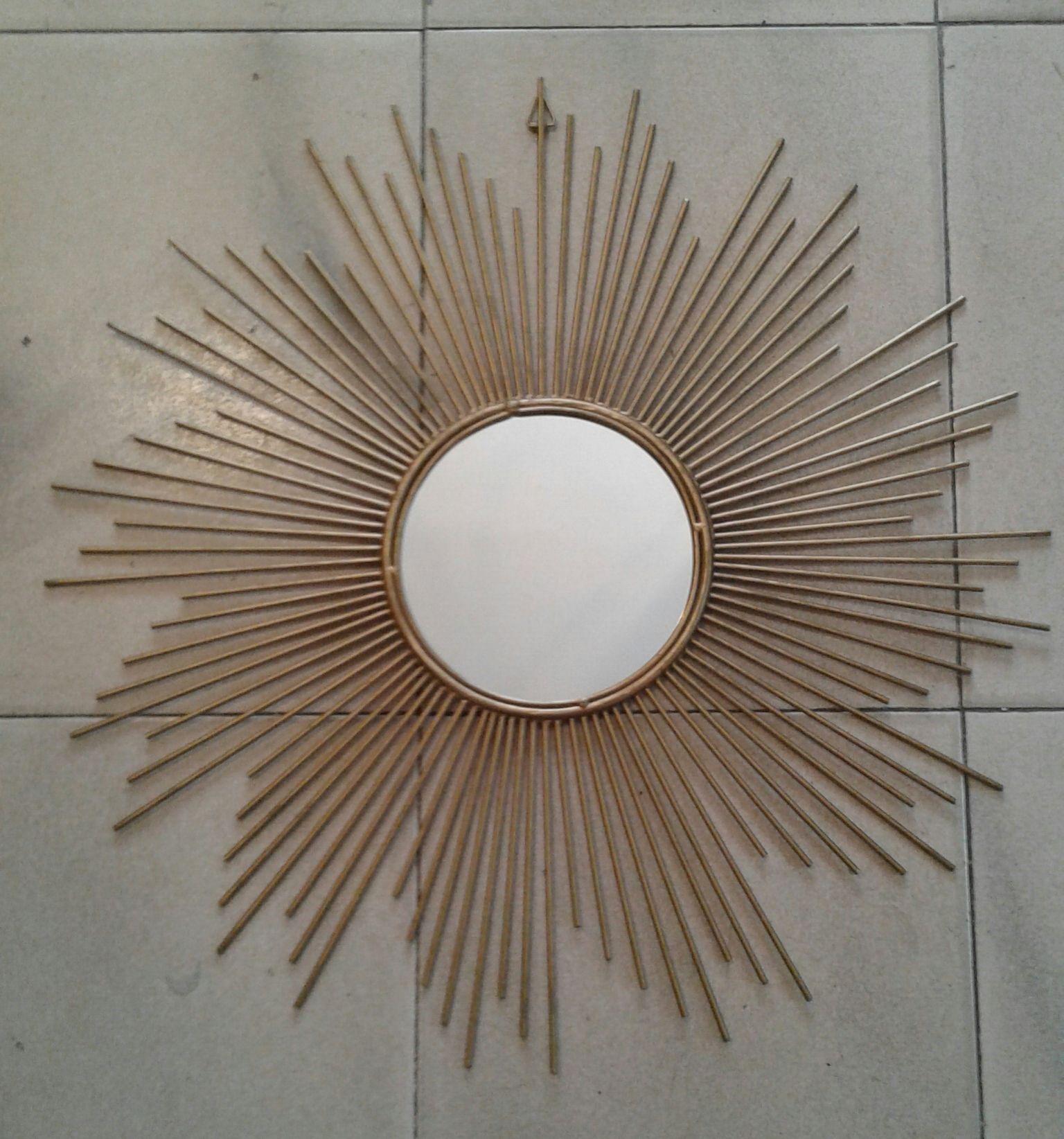 Espejo sol frances Chaty Vallauris. Años 50.