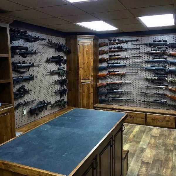 Basement-gun-room-designs