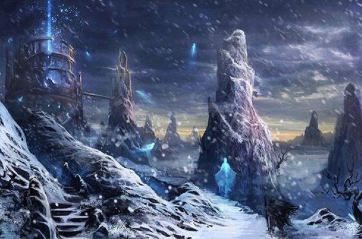 Snow Temple By Ninjatic Fantasy Statues Artiste