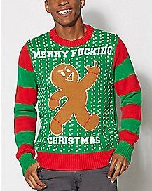 Light Up Gingerbread Man Ugly Christmas Sweater | Hip Stuff For ...