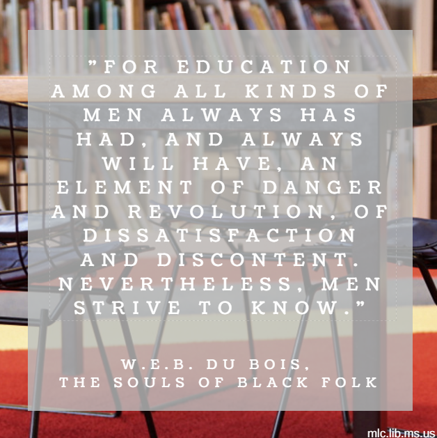 today s quote comes from w e b du bois collection of essays du bois collection of essays called the souls of black folk