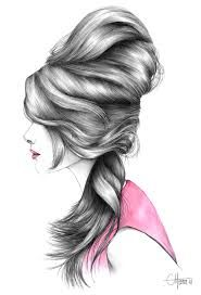 fashion hair illustration - Google Search