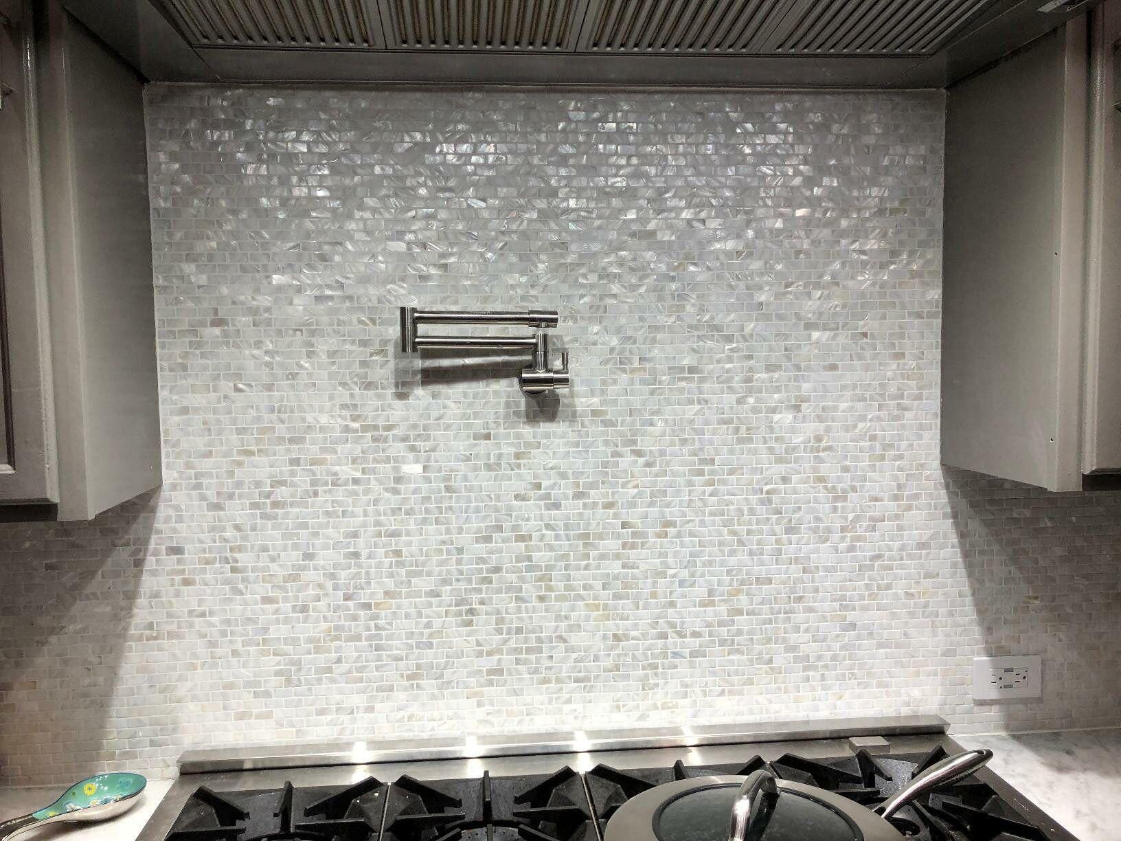 0 6 x 1 2 seashell mosaic subway tile