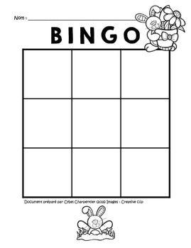 Bingo 9 Cases De Paques First Grade Curriculum English Teaching Materials Bingo Cards Printable
