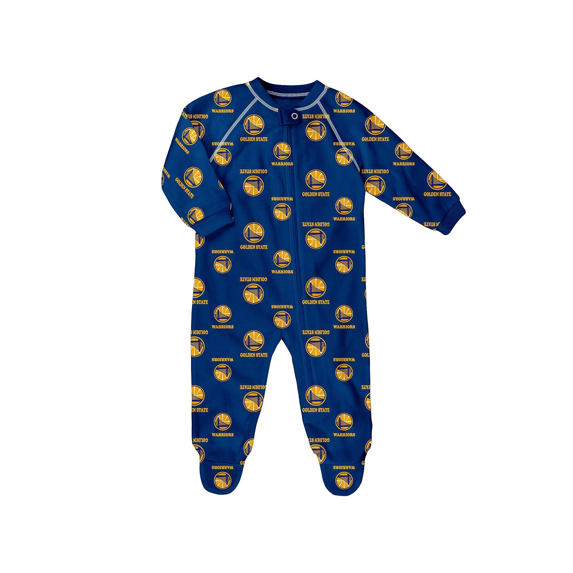 Baby Adidas Golden State Warriors Logo Footed Pajamas Infant Uni