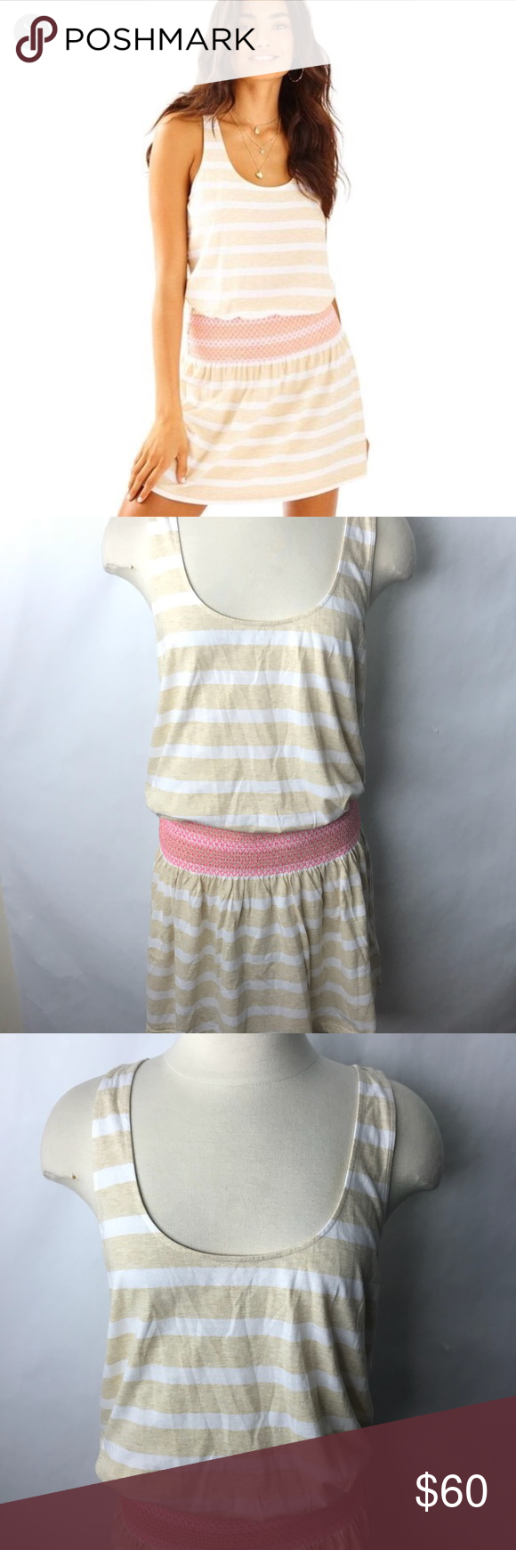 "a160aac9f47fff Lilly Pulitzer tideline dress sandy sand bar L NEW Lilly Pulitzer tideline  dress Heathered sandy sand bar Sundress Slub Knit 📏 Ap to ap 19.5"" Length  38"" ..."